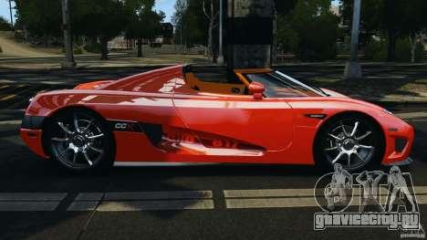 Koenigsegg CCX 2006 v1.0 [EPM][RIV] для GTA 4 вид слева