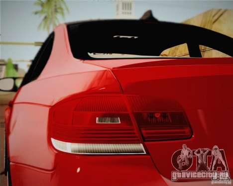 BMW M3 E92 v2.0 для GTA San Andreas вид сзади слева
