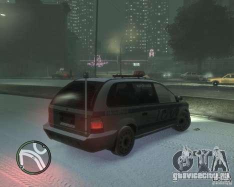 LCPD Minivan для GTA 4 вид справа