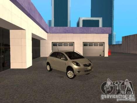 Toyota Yaris Sport 2008 для GTA San Andreas вид слева