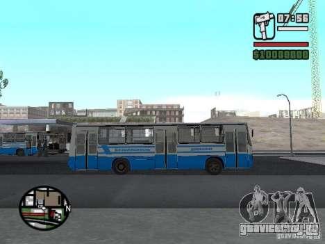 Ikarus 260 Безопасность движения для GTA San Andreas вид слева