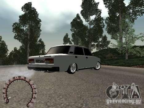 Ваз 2107 БПАN для GTA San Andreas вид справа