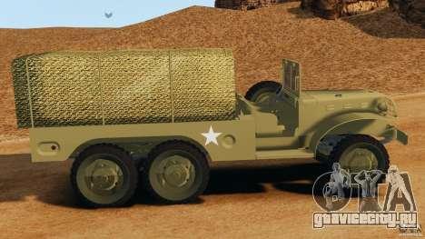 Dodge WC-62 3 Truck для GTA 4 вид слева
