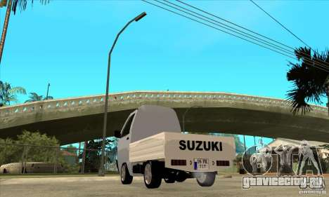Suzuki Carry Kamyonet для GTA San Andreas вид сзади слева