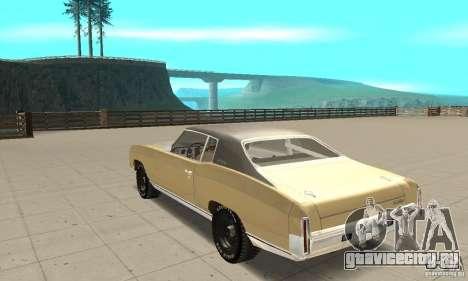 Chevy Monte Carlo [F&F3] для GTA San Andreas вид сзади слева