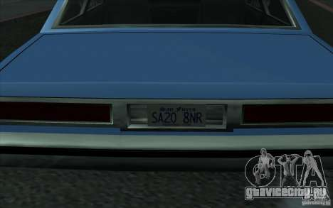Civilian Police Car LV для GTA San Andreas вид сзади