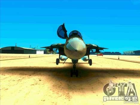 F-14 Tomcat Schnee для GTA San Andreas вид изнутри