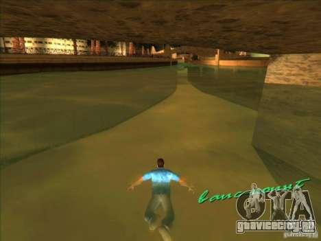 Плавание с новой анимацией для GTA Vice City