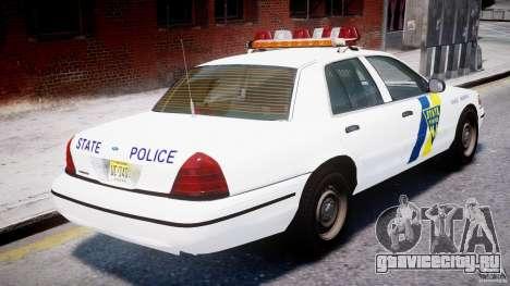 Ford Crown Victoria New Jersey State Police для GTA 4 двигатель