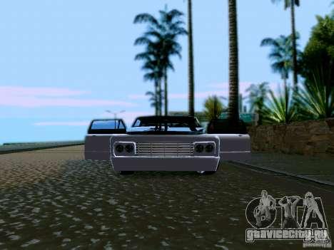 Slamvan Tuned для GTA San Andreas вид изнутри