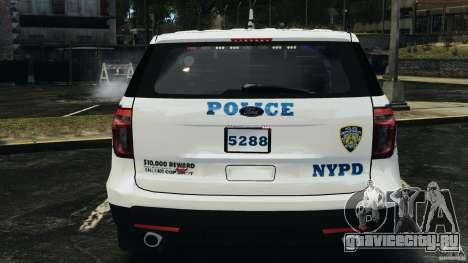 Ford Explorer NYPD ESU 2013 [ELS] для GTA 4 вид сверху