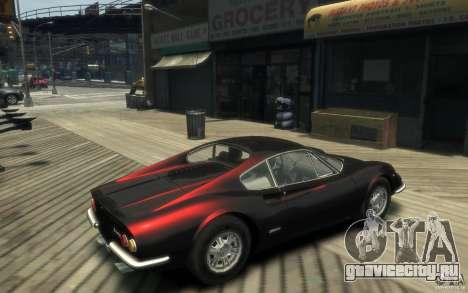 Ferrari Dino 1969 для GTA 4 вид справа