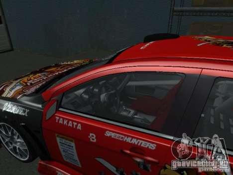 Mitsubishi Evolution X Stock-Tunable для GTA San Andreas вид сбоку