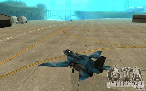 F-14 Tomcat Blue Camo Skin для GTA San Andreas вид справа