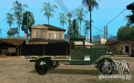 ГАЗ АА для GTA San Andreas вид слева