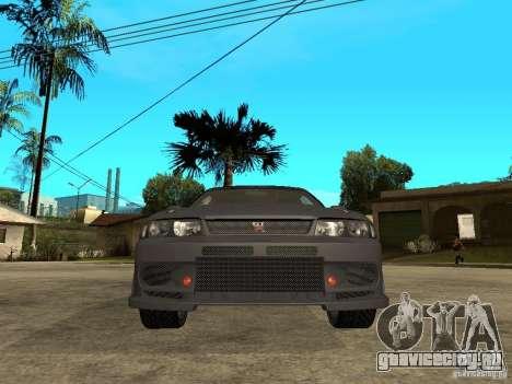 Nissan Skyline R33 Tokyo Drift для GTA San Andreas вид справа
