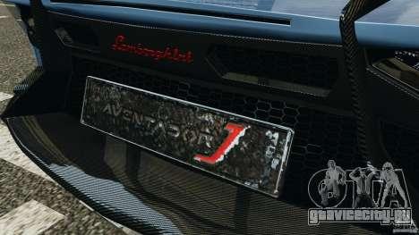 Lamborghini Aventador J 2012 для GTA 4 колёса