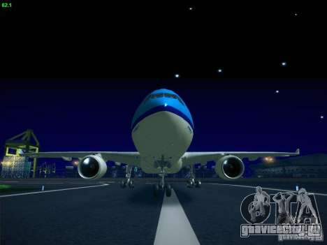 Airbus A330-200 KLM Royal Dutch Airlines для GTA San Andreas вид слева