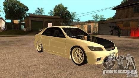 Toyota Altezza RS200 JDM Style для GTA San Andreas вид сзади