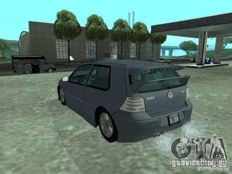 Volkswagen Golf IV для GTA San Andreas вид сбоку
