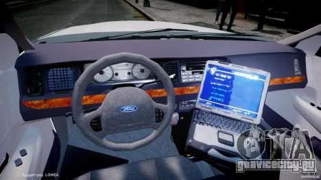 Ford Crown Victoria New Jersey State Police для GTA 4 вид сзади
