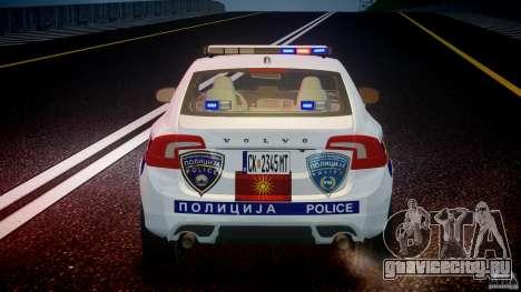 Volvo S60 Macedonian Police [ELS] для GTA 4 двигатель