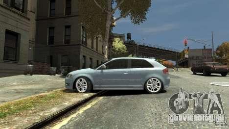 Audi S3 2009 для GTA 4 вид слева