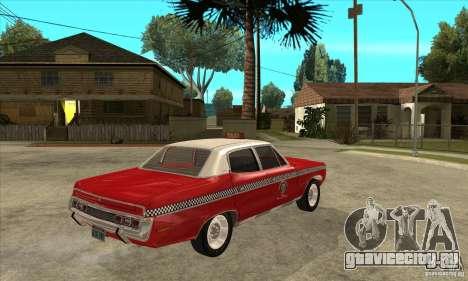 AMC Matador Taxi для GTA San Andreas вид справа
