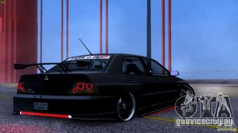 Mitsubishi Lancer Evolution 8 Drift для GTA San Andreas вид изнутри