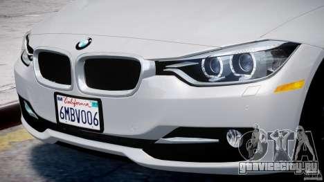 BMW 335i E30 2012 Sport Line v1.0 для GTA 4 колёса