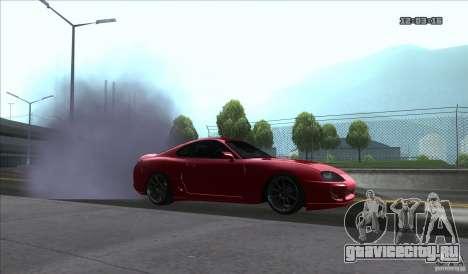 Toyota Supra Stance для GTA San Andreas вид сзади слева