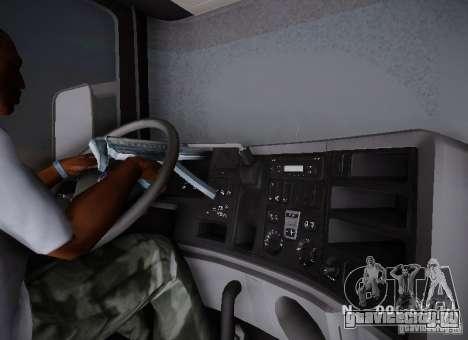Scania R580 Topline для GTA San Andreas вид сбоку