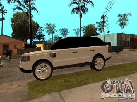 Range Rover Sport для GTA San Andreas вид справа
