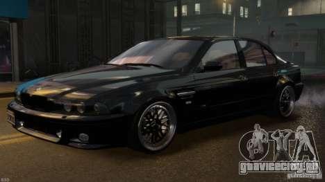 BMW M5 E39 BBC v1.0 для GTA 4 вид снизу