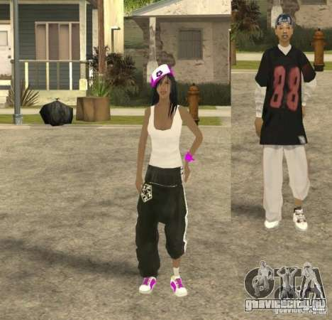 Skinpack Ballas для GTA San Andreas пятый скриншот