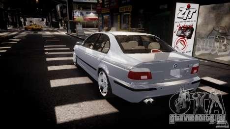 BMW M5 E39 Stock 2003 v3.0 для GTA 4 вид сзади слева