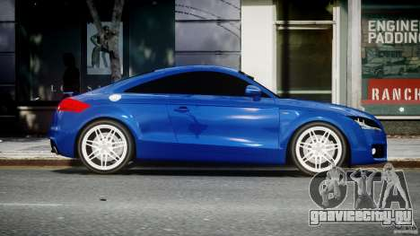 Audi TT RS Coupe v1.0 для GTA 4 вид изнутри