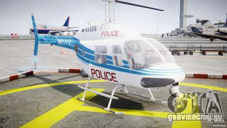 Bell 206 B - Chicago Police Helicopter для GTA 4 вид сзади
