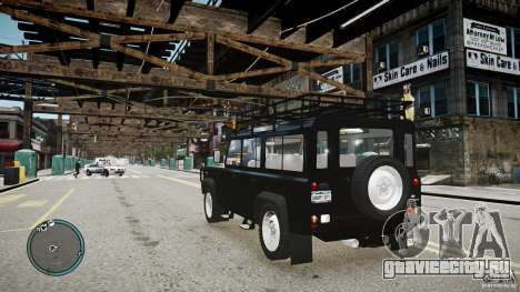 Land Rover Defender для GTA 4 вид изнутри
