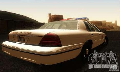 Ford Crown Victoria Utah Police для GTA San Andreas вид слева