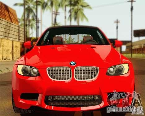 BMW M3 E92 v2.0 для GTA San Andreas вид изнутри