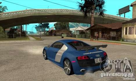 Audi R8 V10 v2 для GTA San Andreas вид сзади слева