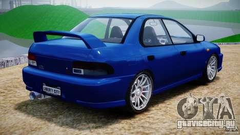 Subaru Impreza WRX STI 1999 v1.0 для GTA 4 вид сзади слева