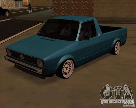 Volkswagen Caddy Custom 1980 для GTA San Andreas вид сзади слева