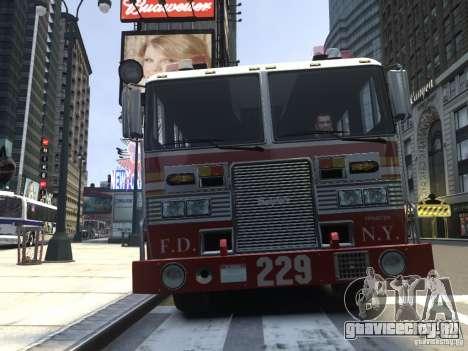Fire Truck FDNY для GTA 4 вид слева