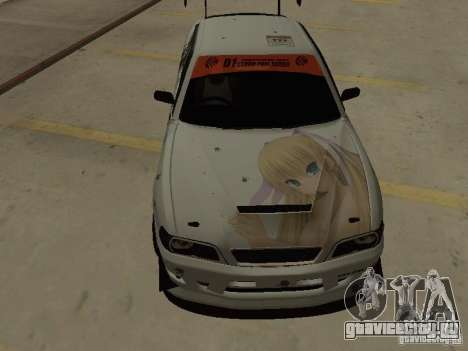 Toyota Chaser JZX100 Tuning by TCW для GTA San Andreas вид изнутри