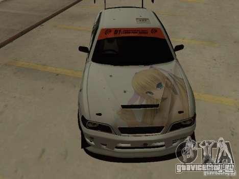 Toyota Chaser JZX100 Tuning by TCW для GTA San Andreas вид изнутри