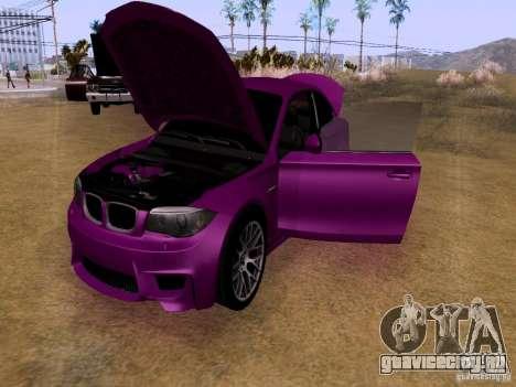 BMW 1M  2011 для GTA San Andreas вид изнутри