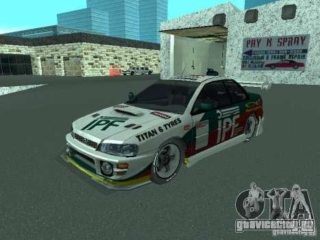 Subaru Impreza для GTA San Andreas салон