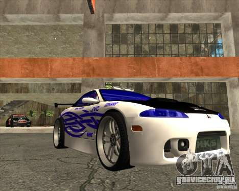 Mitsubishi Eclipse street tuning для GTA San Andreas вид сзади